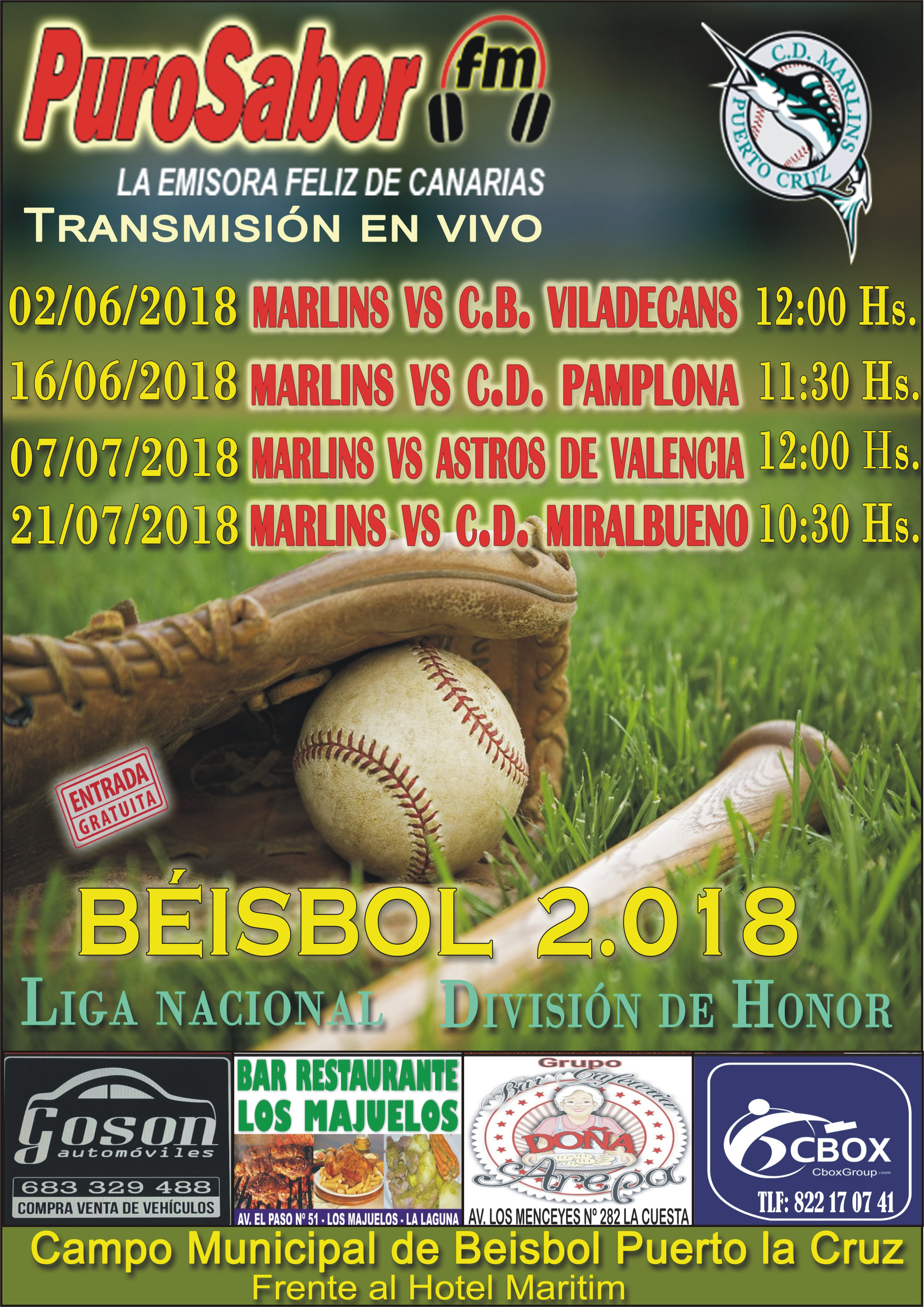 CARTEL BEISBOL MAYO 2018 CINCO