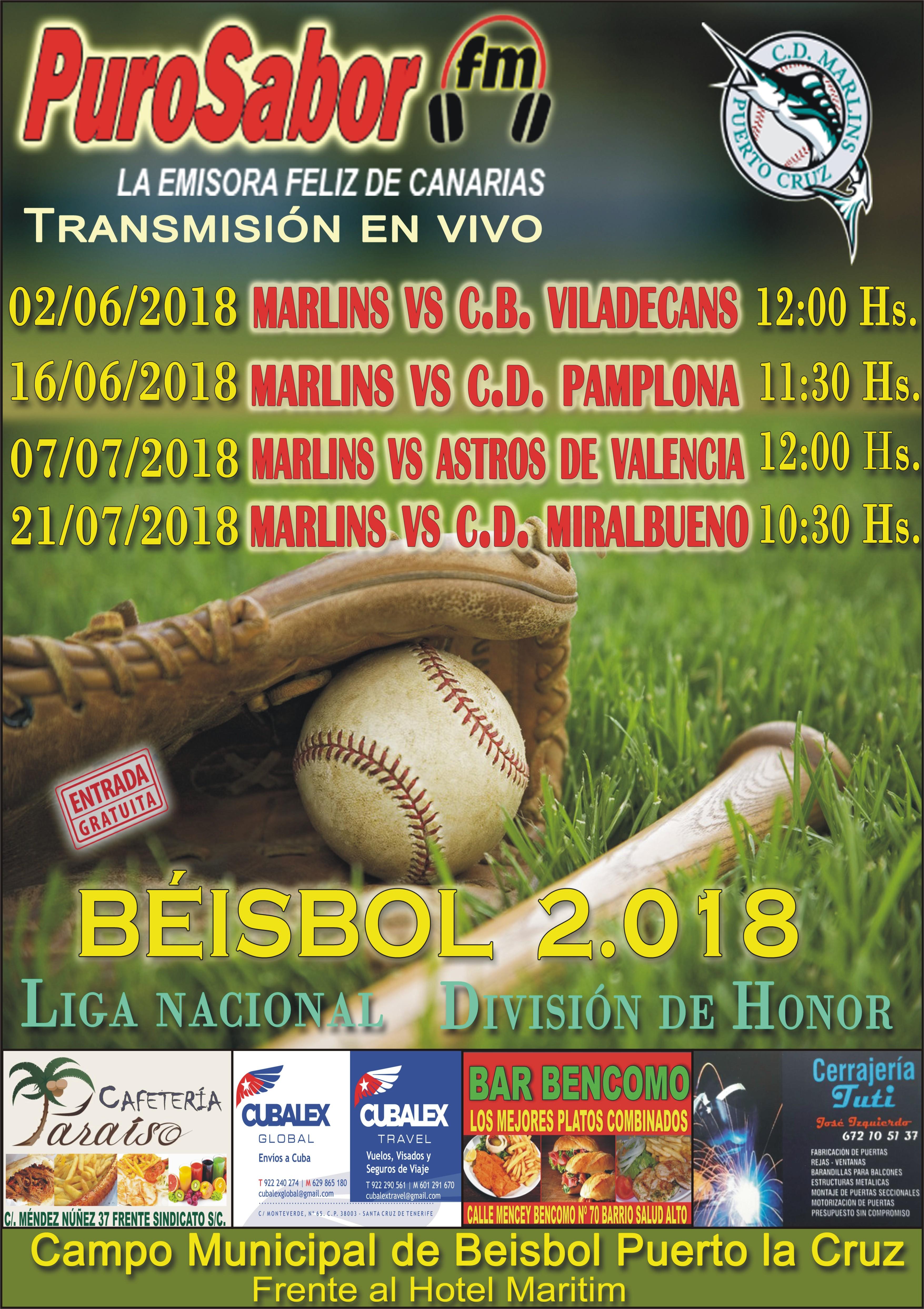 CARTEL BEISBOL MAYO 2018 CUATRO