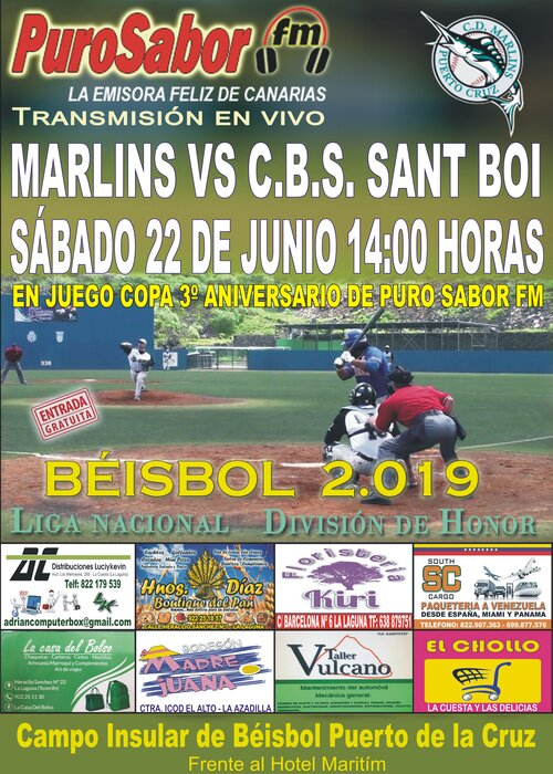 CARTEL BEISBOL COPA PURO SABOR FM